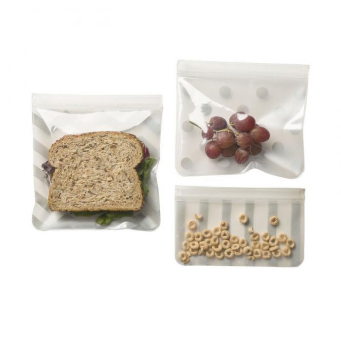 JL Childress - See 'N Save Reusable Baby Food Bags 3 Pack - Grey 3