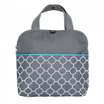 JL Childress - Maxicool 4-Bottle Cooler - Grey/Teal Clover
