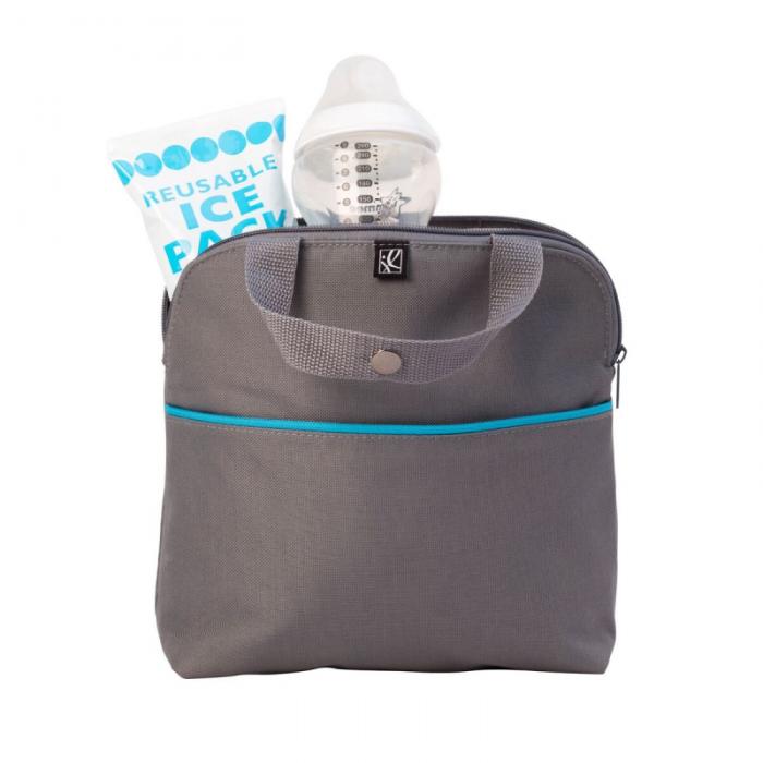 JL Childress - Maxicool 4-Bottle Cooler - Grey/Teal 3
