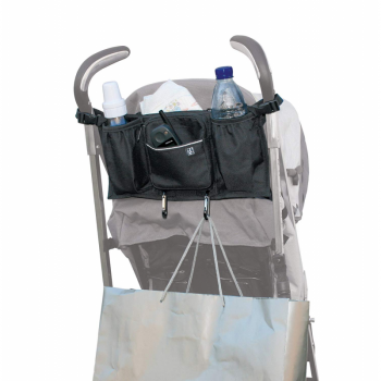 JL Childress - Bottles 'N Bags Stroller Organiser for Newborn and Above - Black