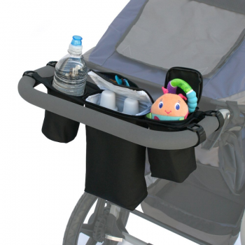 JL Childress Cups 'N Cool Deluxe Stroller Console - Black