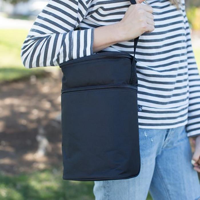 JL Childress - 6 Bottle Cooler Tote Bag - Black 5