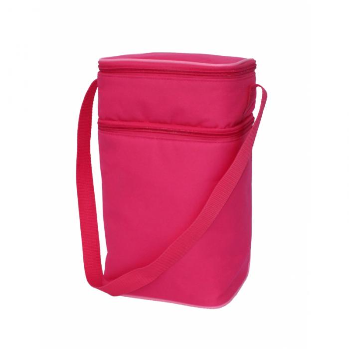 JL Childress - 6 Bottle Cooler Tote Bag - Pink/Light Pink