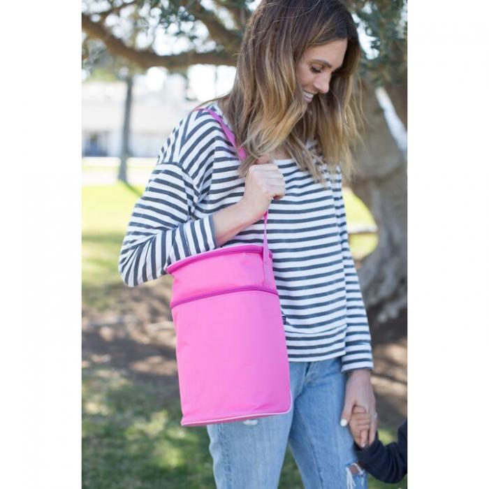 JL Childress - 6 Bottle Cooler Tote Bag - Pink/Light Pink 3