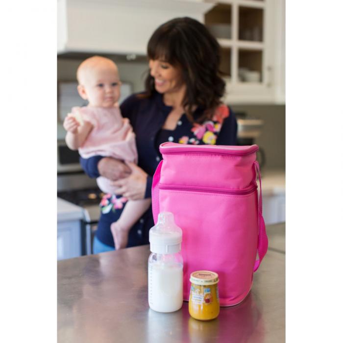 JL Childress - 6 Bottle Cooler Tote Bag - Pink/Light Pink 4