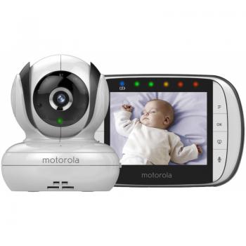 "Motorola - MBP36S Digital Video Monitor 3.5"" Colour LCD Display - White/Black"
