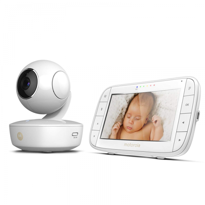 Motorola - MBP50 Digital Video Baby Monitor with LCD Colour Screen 5.0 Inch Way Eco and Night Vision - White 2