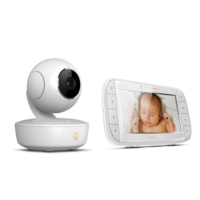 Motorola - MBP50 Digital Video Baby Monitor with LCD Colour Screen 5.0 Inch Way Eco and Night Vision - White 3