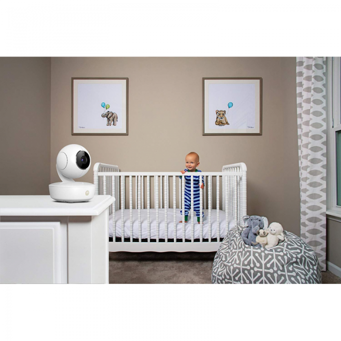 Motorola - MBP50 Digital Video Baby Monitor with LCD Colour Screen 5.0 Inch Way Eco and Night Vision - White 4
