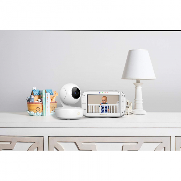 Motorola - MBP50 Digital Video Baby Monitor with LCD Colour Screen 5.0 Inch Way Eco and Night Vision - White 6