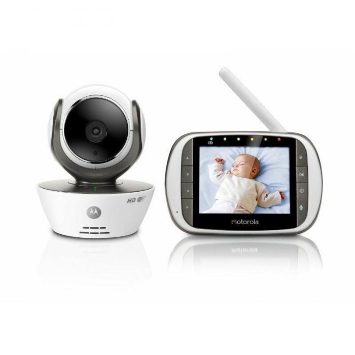 Motorola - MBP853 Connect Wi-Fi HD Digital Video Baby Monitor - White