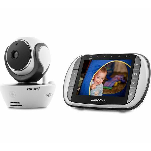 Motorola - MBP853 Connect Wi-Fi HD Digital Video Baby Monitor - White 8