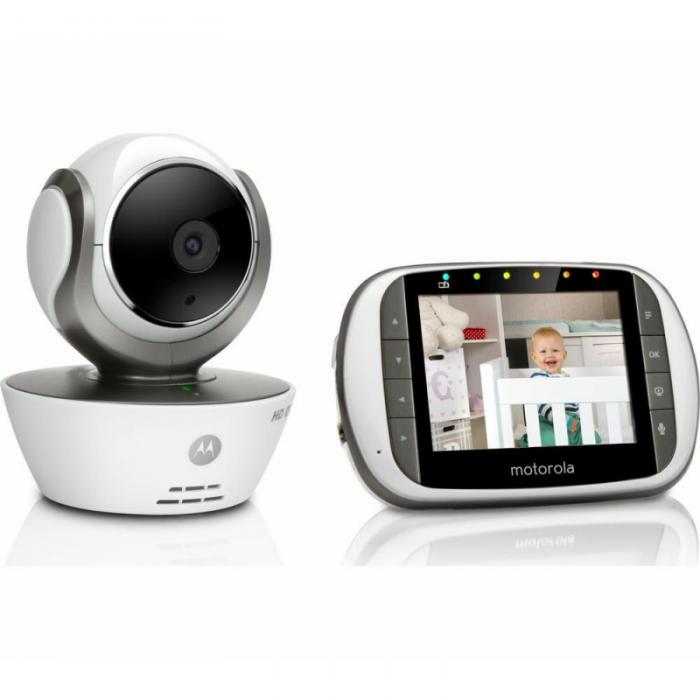 Motorola - MBP853 Connect Wi-Fi HD Digital Video Baby Monitor - White 2