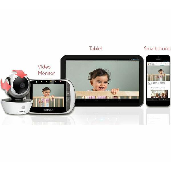 Motorola - MBP853 Connect Wi-Fi HD Digital Video Baby Monitor - White 3