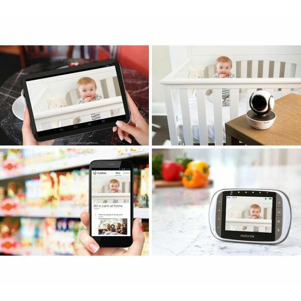 Motorola - MBP853 Connect Wi-Fi HD Digital Video Baby Monitor - White 4