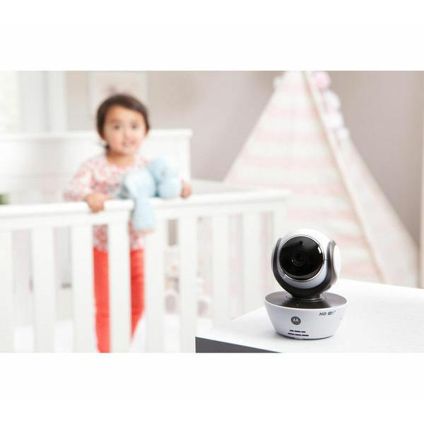 Motorola - MBP853 Connect Wi-Fi HD Digital Video Baby Monitor - White 6