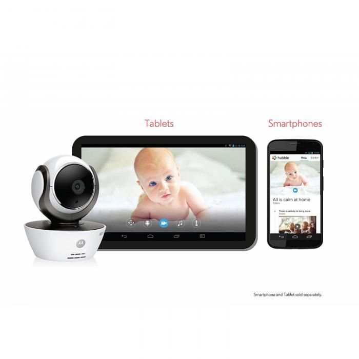 Motorola - MBP85 Connect Baby Monitor - White/Black 5