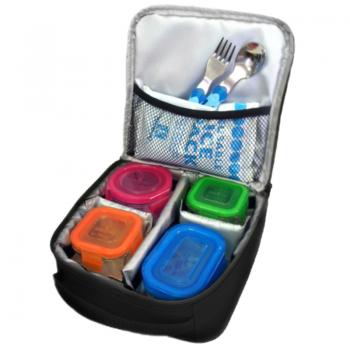 JL Childress - Cooler Cube Food and Bottle Bag - Black