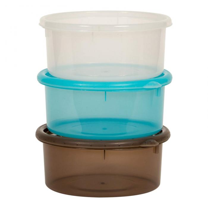 Bo Jungle - B-Bowls Feeding and Storage Bowls with Lids - 3pk 5