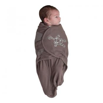 Bo Jungle - B-Wrap Swaddle Blanket (Small) - Taupe Monkey