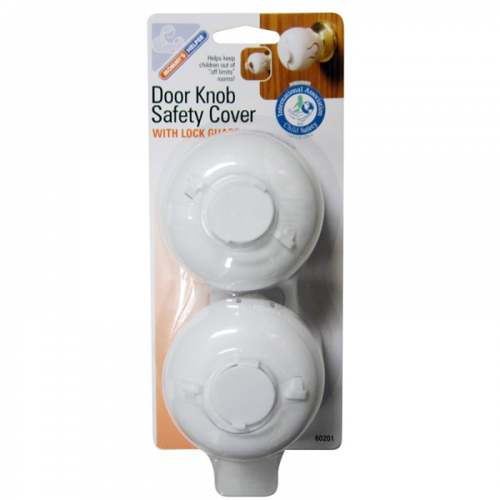 Mommy's Helper - Door Knob Covers (Pack of 2) - White 2