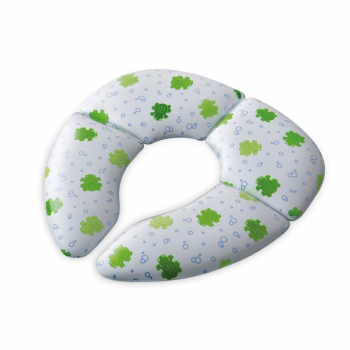 Mommy's Helper - Froggie Collection Cushie Traveller Padded Toilet Training Seat - Green/White