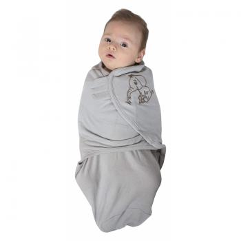 Bo Jungle - B-Wrap Swaddle Blanket (Large) - Grey Elephant