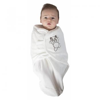 Bo Jungle - B-Wrap Swaddle Blanket (Large) - White Panda