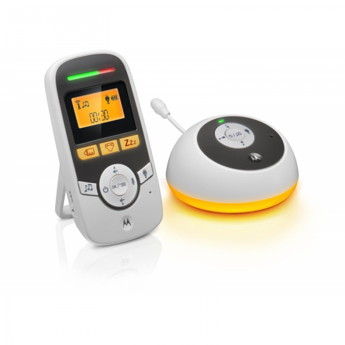 Motorola - MBP161 Timer Digital Audio Baby Monitor with Baby Care Timer - White
