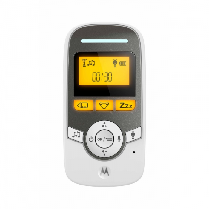 Motorola - MBP161 Timer Digital Audio Baby Monitor with Baby Care Timer - White 2