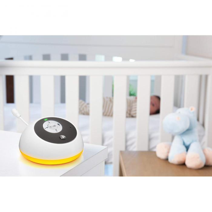 Motorola - MBP161 Timer Digital Audio Baby Monitor with Baby Care Timer - White 6