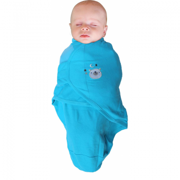 Bo Jungle - B-Wrap Swaddle Blanket (Small) - Blue Bear