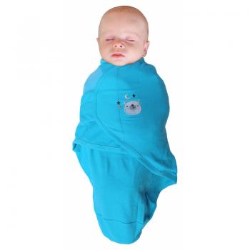 Bo Jungle - B-Wrap Swaddle Blanket (Large) - Blue Bear