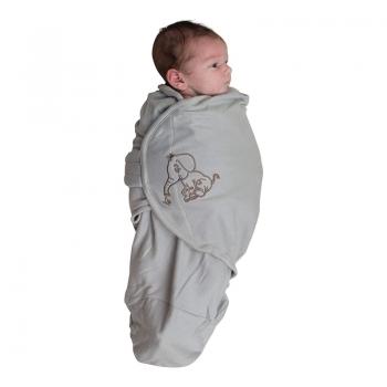 Bo Jungle - B-Wrap Swaddle Blanket (Small) - Grey Elephant