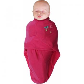 Bo Jungle - B-Wrap Swaddle Blanket (Small) - Pink Flower