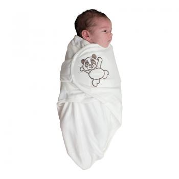Bo Jungle - B-Wrap Swaddle Blanket (Small) - White Panda