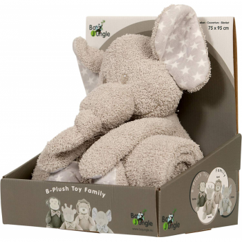 Bo Jungle - B-Plush Toy with Blanket - Zimbe The Elephant